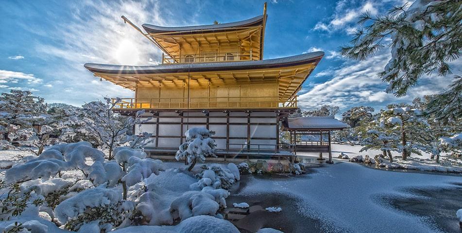 Морозный японский пейзаж